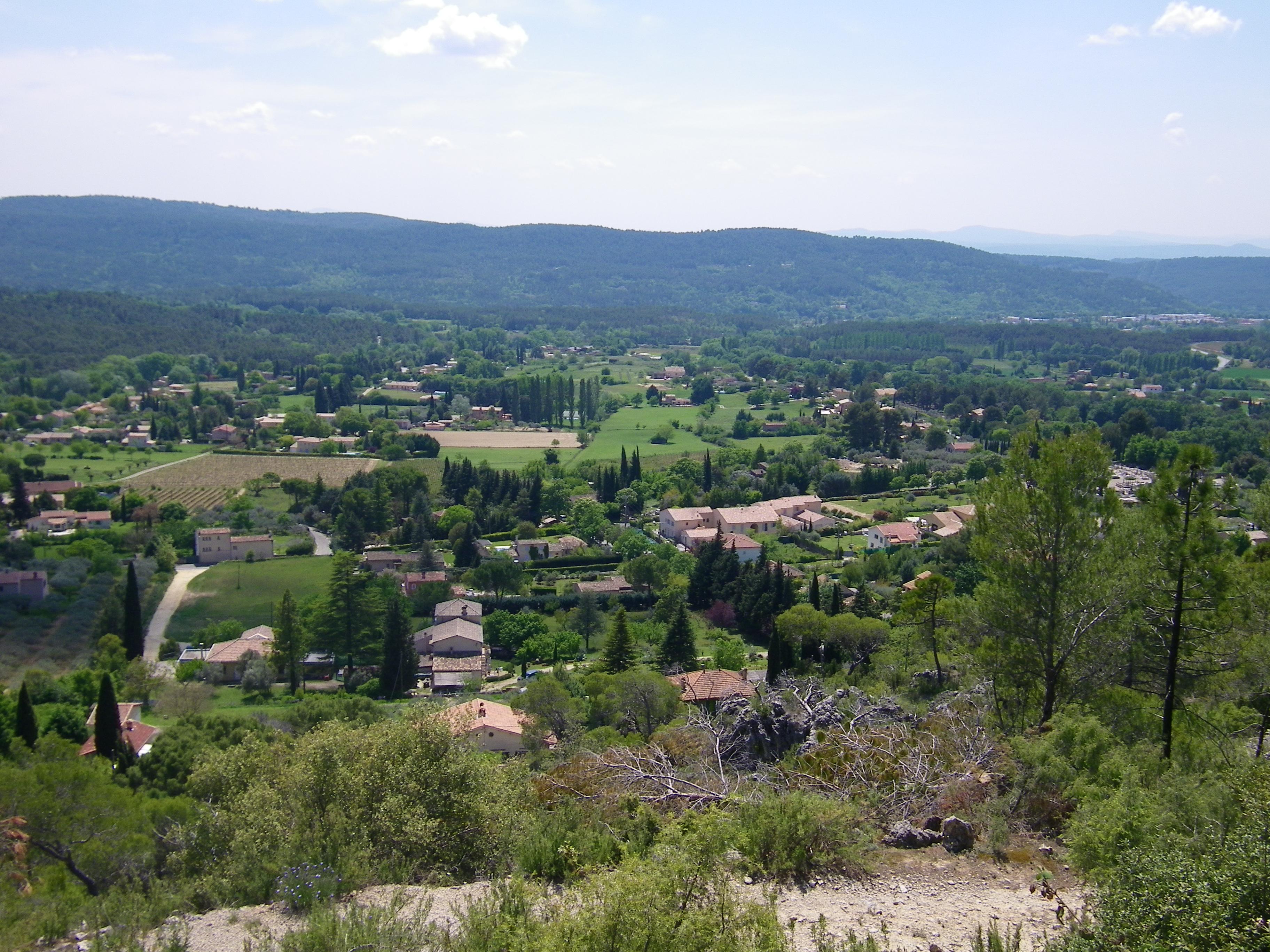 Photo Belvédère sur le village de Villecroze